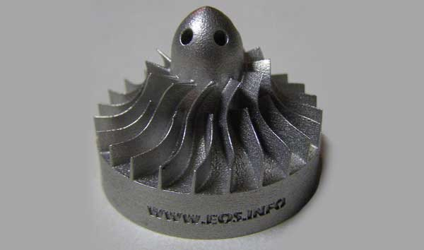 Miniature turbine 3D print from Rapid 2006 in Chicago, Illinois. (image source: wikipedia)