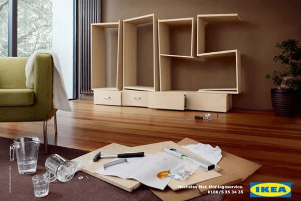IKEA flat packing