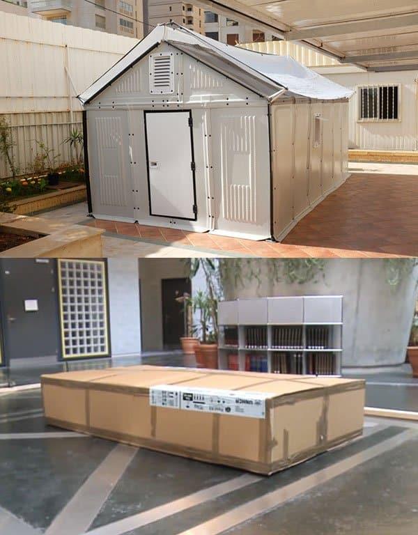 ikea refugee house flat packing