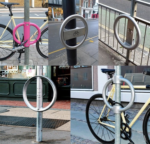 Cylcehoop installed in London streets. (Source: Cyclehoop)